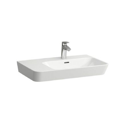 817541 - Laufen Moderna 700mm x 465mm Washbasin with Left Shelf - 8.1754.1
